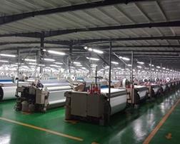 蓝悦光电led照明灯具照亮富佳化纤针织厂区和厂房